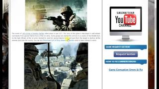 How we can download Call of Duty 4 Modern Warfare for pc in Hindi/Urdu