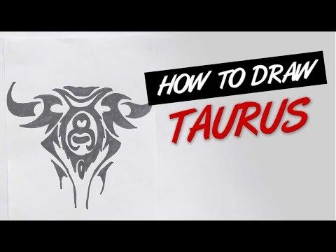 How to draw taurus tribal tattoo design  |   Ep. 139