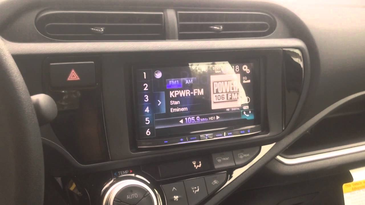 Pioneer Avic-8200nex 2016 Prius C dash kit for double din - YouTube