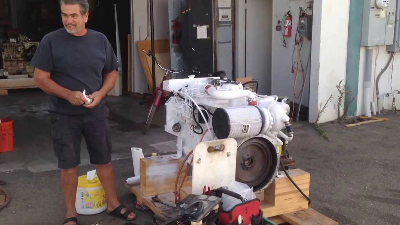 cummins 6bt 210 engine start from seaboard marine youtube. Black Bedroom Furniture Sets. Home Design Ideas
