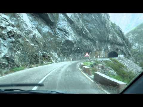 Mountain roads in Montenegro