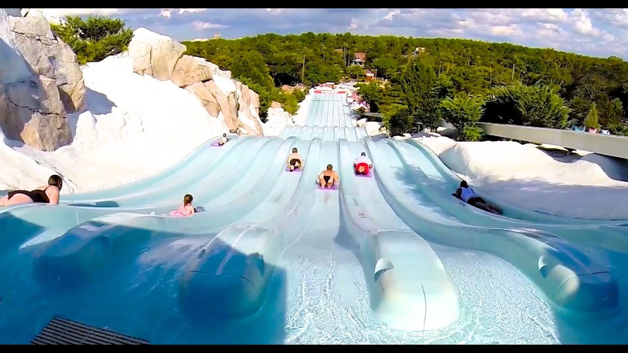 Hd Toboggan Racers At Blizzard Beach Water Park Orlando Fl Youtube