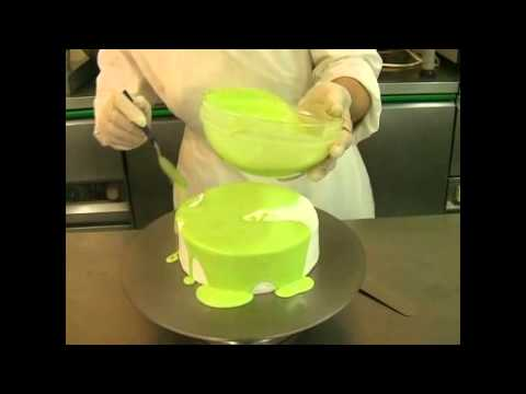 Mirror icing (glaze) - YouTube