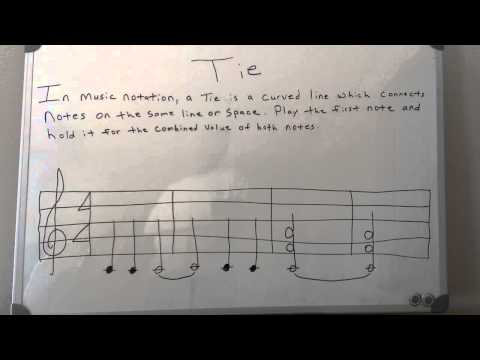 Piano Theory: Tie Notes - Music Theory
