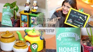 How to Style your kitchen Countertop I ideas to Organise Indian Kitchen |Scarlet Strokes
