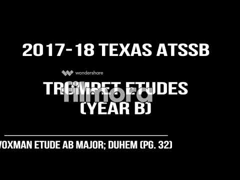 2017-18 Texas ATSSB Trumpet Etudes; Year B (Voxman Ab Major; Duhem; pg. 32)