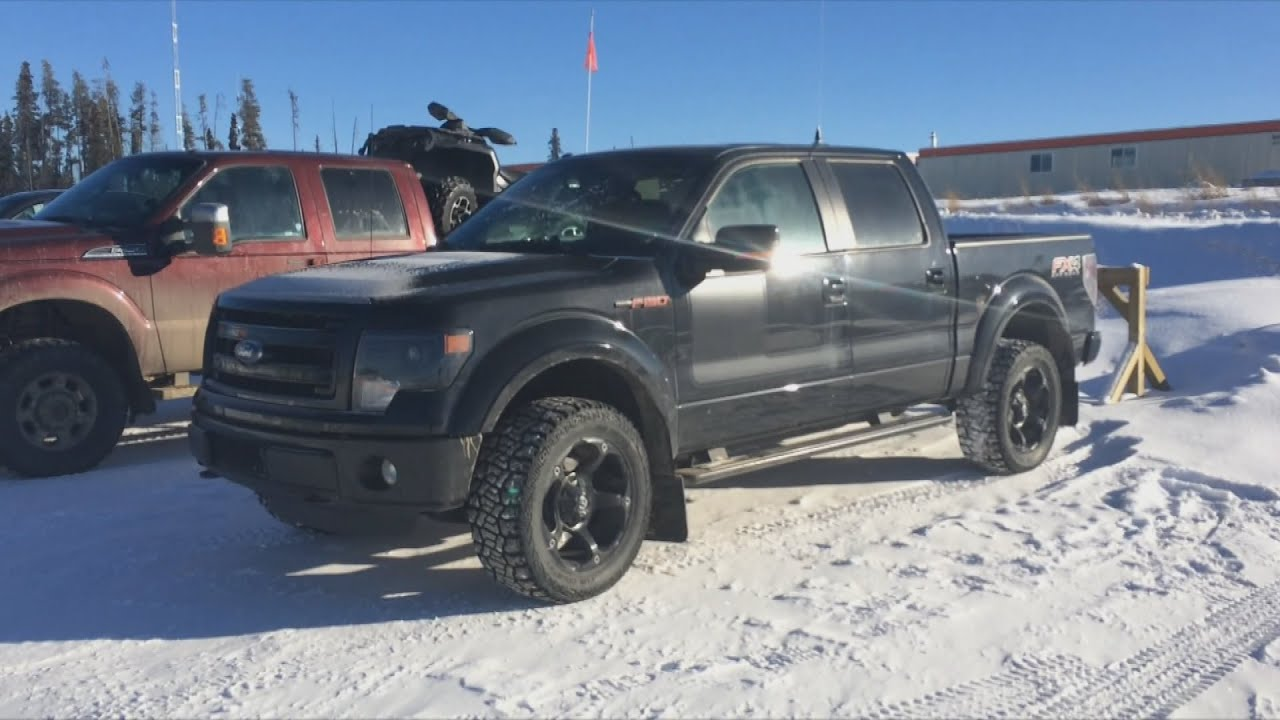 blacked out ford f 150 in the snow youtube. Black Bedroom Furniture Sets. Home Design Ideas