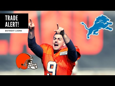 Lions TRADE For David Blough! BREAKING NEWS: Detroit Lions Talk
