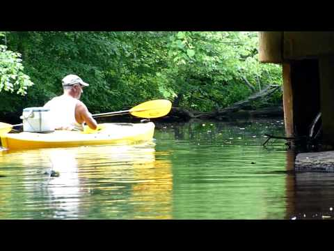 Kayaking in Rancocas Creek, Part 2 ; Panasonic ZS3 + Costco Equinox Kayak