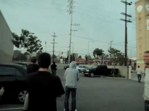 something hits the high voltage electrical wire in Hollywood causing a blast