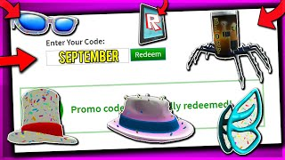 *SEPTEMBER* ALL WORKING PROMO CODES ON ROBLOX 2019 (NOT EXPIRED!)