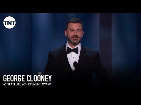 Jimmy Kimmel on George Clooney's Pool  AFI 2018  TNT