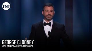 Jimmy Kimmel on George Clooney's Pool | AFI 2018 | TNT