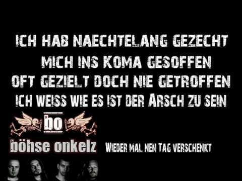 Böhse Onkelz - Wieder mal 'nen Tag verschenkt Lyrics