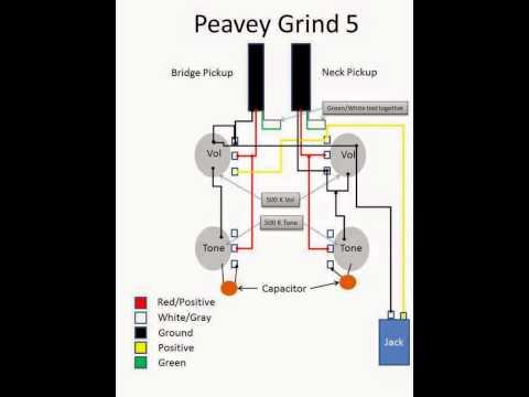 peavey grind 5 wiring diagram youtube peavey guitar wiring diagram