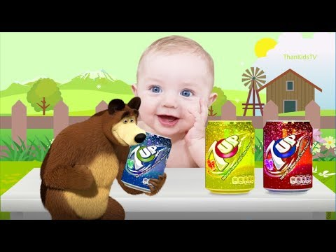 The Bear Funny Finger Family Nursery Rhyme Song Learn Colors With 7up  ThankidsTV
