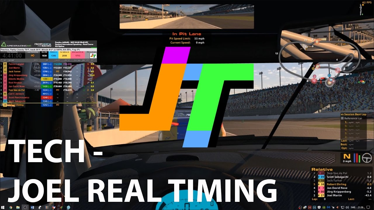 TECH - Joel Real Timing Overlays in iRacing