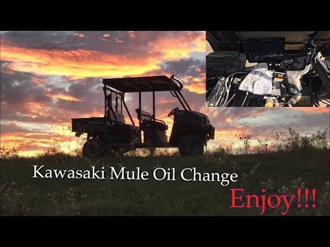 Kawasaki Mule Oil Change All Steps YouTube