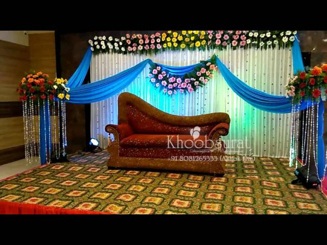 engement & reception stages khoobsurat decoration +91 8081265333