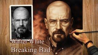 Walter White (Heisenberg) from Breaking Bad speed drawing Portrait Art (Brian Cranston)