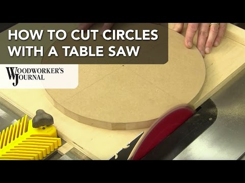 How to Cut Circles on a Table Saw