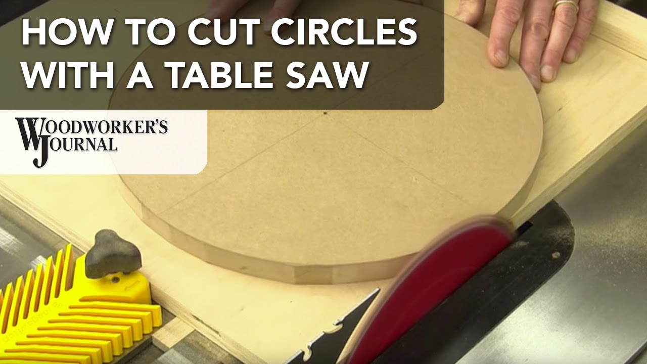How to cut circles on a table saw youtube for How to slice wood