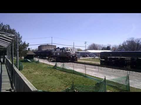 Falls Road Railroad Passes Medina Railroad Museum 4-18-17