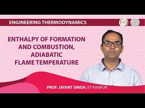 Enthalpy of formation and combustion, adiabatic flame temperature