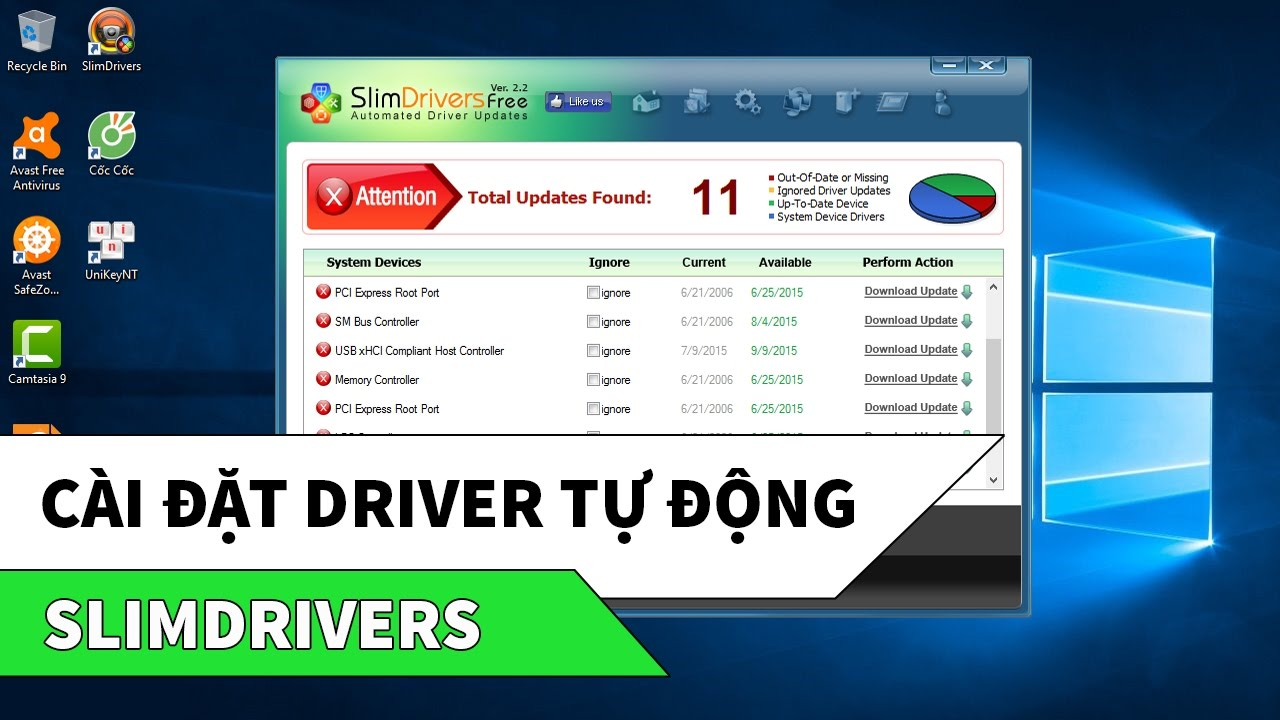 SlimDrivers | Cách cài đặt, cập nhật driver máy tính tự động, miễn phí
