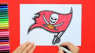 How to draw and color the Tampa Bay Buccaneers Logo - NFL Team Series