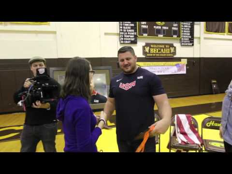 World champion U.S. shot putter Joe Kovacs returns to Bethlehem Catholic High School