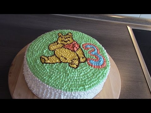 как легко и быстро украсить торт в стиле Винни Пух/cake decoration winnie the pooh