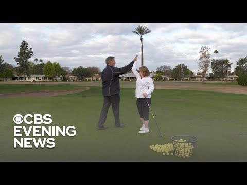 """She inspires me"": Golf instructor Matt Acuff on Amy Bockerstette's viral moment"