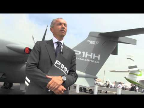 Piaggio Aero unveils its new P1 HH Hammerhead UAV