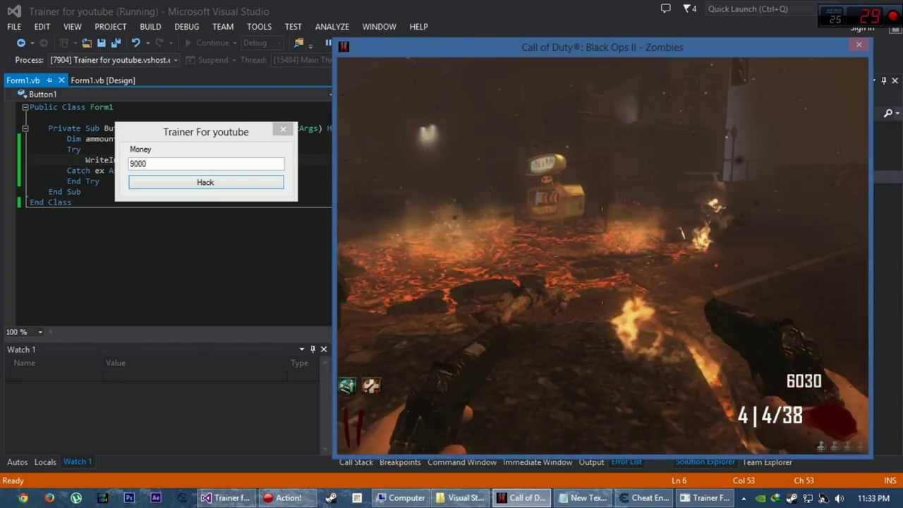 How to make a simple trainer using Cheat Engine and Visual Studio 2013