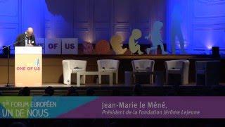 Un de Nous - Introduction du Forum par Jean-Marie Le Méné