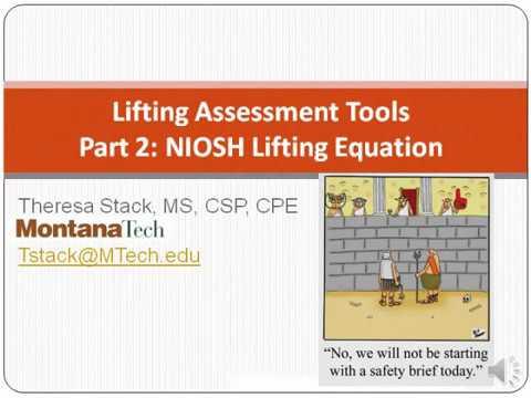 Advanced Ergonomics, NIOSH Lifting Equation explained - YouTube