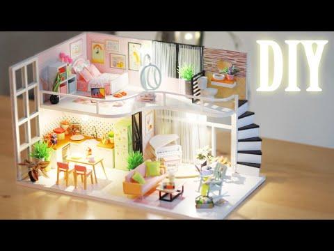 DIY Miniature Dollhouse Kit || Anna's Pink Melody - Miniature Land