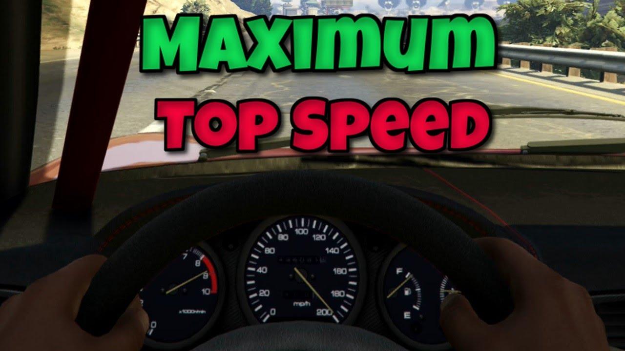 Gta 5 The True Top Speed Within Gta 5 Maximum Top Speed Within