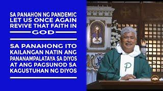 Timeless Wisdom   Hoṁily   Revive that Faith in God  30thSun in OrdTime Fr Bienvenido Trinilla Jr OP