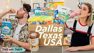 British People Trying American Candy: Texas Edition - This With Them