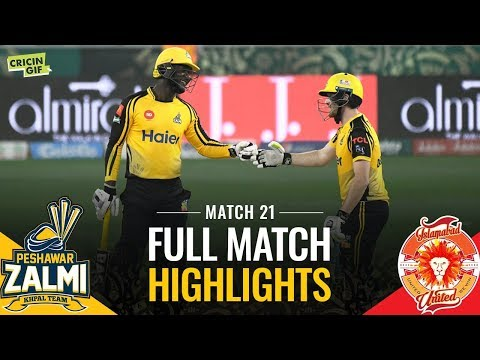 PSL 2019 Match 21: Peshawar Zalmi v Islamabad United | PEL Full Match Highlights