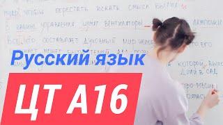 ЦТ А16.  Пунктуация