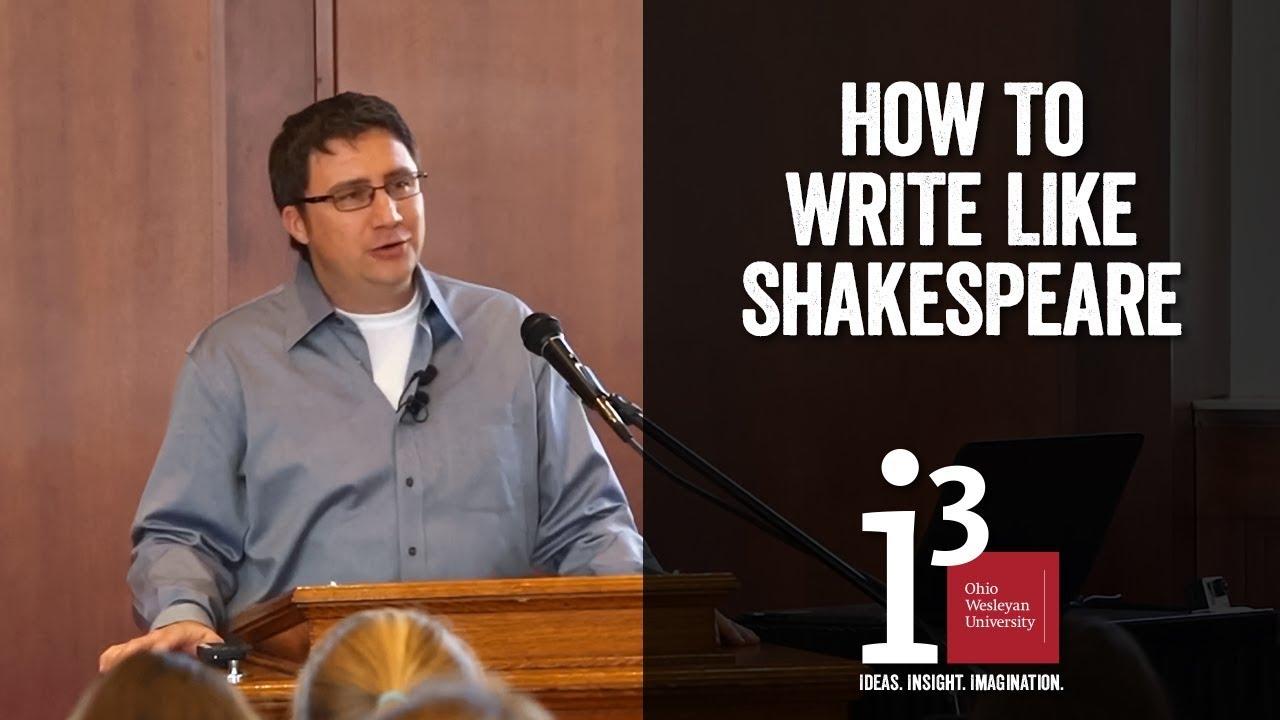 How to Write Like Shakespeare