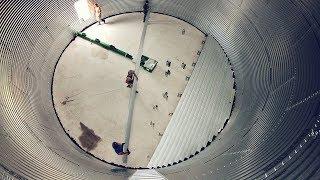 Installing Grain Bin Floor - Sukup Hawk-Cut Flooring