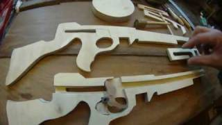 Tommy Machine Gun In Wood ( Made With A Scroll Saw)