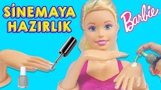 Barbie Oje Sürüp El Bakımı Yaptırıp Sinemaya Gitmeye Hazırlanıyor   Evcilik TV