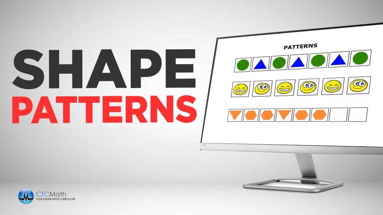 Kindergarten Math Tutorials: Shape Patterns
