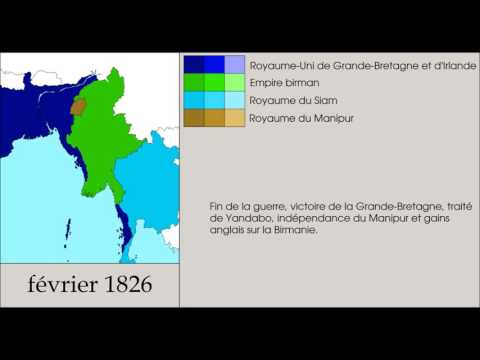 First Anglo Burmese War (1824-1826) Every month