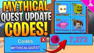 MYTHICAL QUEST UPDATE CODES IN ROBLOX MINING SIMULATOR! *INSANE TOKENS*